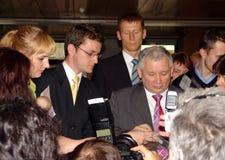 JAROSLAW KACZYNSKI - PREMIER MINISTRE DE LA POLOGNE. Photo libre de droits