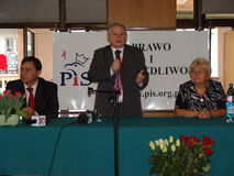 JAROSLAW KACZYNSKI - PRIMEIRO MINISTRO DE POLAND. Fotografia de Stock Royalty Free