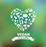 Jarosz i weganin, zdrowy organicznie tło Zdjęcia Royalty Free