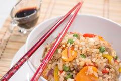 Jarosze Smażący ryż z kijami Zdjęcie Royalty Free