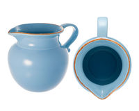Jarra de cerámica azul Imagenes de archivo