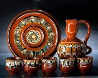 Jarra de cerámica de las tazas Imagen de archivo