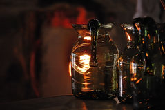 Jarra de cristal soplada Fotografía de archivo libre de regalías