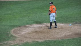 Jarra del béisbol, cabeceo, lanzando, atletas, deportes metrajes