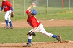 Jarra joven del béisbol Imagen de archivo