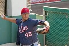 Jarra Phil Hughes de los Minnesota Twins Imagen de archivo