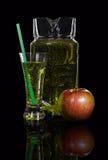 Jarra y un vidrio de sidra, manzana Imagen de archivo libre de regalías