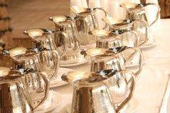 Jarras de plata Imagen de archivo libre de regalías