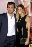 Jarret Stoll and Erin Andrews. At the Los Angeles premiere of The Hunger Games: Catching Fire held at the Nokia Theatre L.A. Live in Los Angeles on November 18 stock image