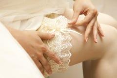 Jarretière de mariage Images libres de droits
