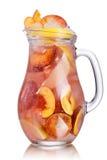 Jarro da limonada do pêssego Fotografia de Stock