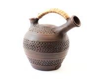 Jarro de cerámica para el vino Fotografía de archivo