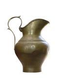 Jarro de cobre amarillo antiguo Foto de archivo libre de regalías