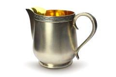 Jarro de creme de prata antigo Fotografia de Stock Royalty Free