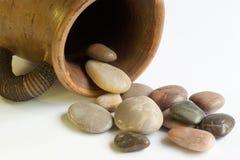 Jarro de guijarros Imagen de archivo libre de regalías