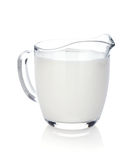 Jarro de leite fotografia de stock