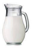 Jarro de leite isolado imagens de stock