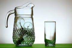 Jarro de vidro de ampolas fotografia de stock