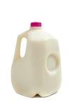 Jarro del galón de leche Fotografía de archivo