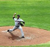 Jarro Dillon Gee do NY Mets foto de stock royalty free