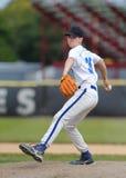 Jarro do basebol da High School Fotos de Stock