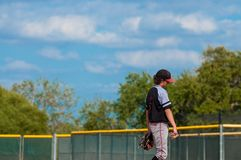 Jarro do basebol da liga júnior Foto de Stock