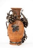Jarro eslavo do produto de cerâmica do vintage antigo, ornamento do nacional do calendário Imagens de Stock Royalty Free