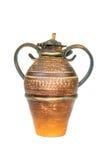 Jarro eslavo do produto de cerâmica do vintage antigo, ornamento do nacional do calendário Imagem de Stock