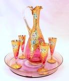 jarro modelado vintage dorado hermoso Fotografía de archivo libre de regalías