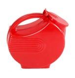 Jarro plástico vermelho da água   imagem de stock royalty free