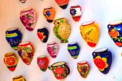 Jarros coloridos Fotografía de archivo libre de regalías