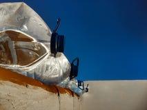 Jarros de água no telhado fotografia de stock royalty free