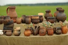 Jarros de cerámica imágenes de archivo libres de regalías