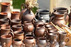 Jarros de cerámica Fotos de archivo libres de regalías