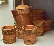 jarros de la corteza de abedul Fotografía de archivo