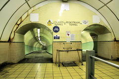 Jarrow Side Foyer of the Pedes. The Jarrow, South,  side of the Pedestrian Tyne Tunnel. Two tunnels run parallel to each other from Jarrow to Howdon. One tunnel Stock Photography