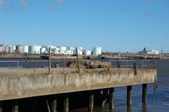 Jarrow slack cargo port2 Royalty Free Stock Image