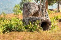 jars равнина Лаоса phonsavan Стоковое Изображение RF