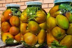 jars томаты Стоковые Изображения RF