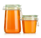 изолированный мед jars белизна Стоковая Фотография
