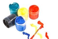 Jars av målarfärg. Arkivbild