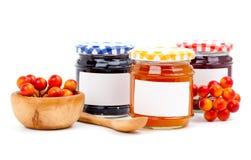 Jars av marmalade Arkivbilder
