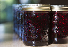 Jars of Blackberry Jam Stock Image