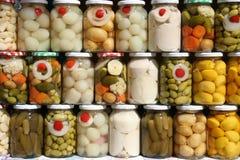 Jars of Brazilian Vegetables. Jars of traditional Brazilian vegetables from the state of Goias Royalty Free Stock Photo