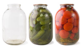 Jars collection Royalty Free Stock Photos