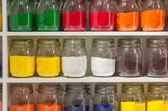 Jars of Colored Sand Royalty Free Stock Photo