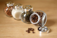 Jars of food ingredients Stock Photography