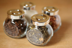 Jars of food ingredients Stock Image