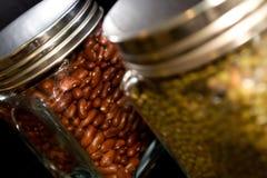 Jars full of beans Stock Photo