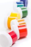 Jars of gouache Stock Images